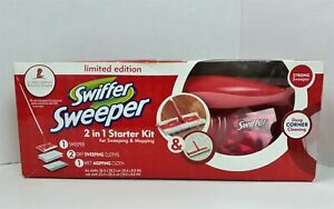 Swiffer Sweeper Limited Edition Red Pink 2-in-1 Starter Kit Sweeping & Mopping