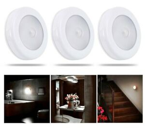6 LED Motion Sensor Light In/Outdoor Wall Stair Shed Wardrobe Battery Stick