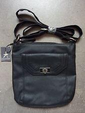 NEU Damen Tasche Schulter Handtasche Klassisch Schwarz Leder Optik Primark