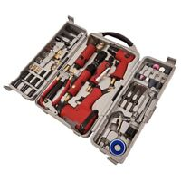77pc Air Tool Kit Impact Gun Grinder Wrench Hammer Chisel Compressor Die Storage