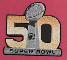 "New Super Bowl 50 Denver Broncos'  4 1/2 X 5  "" Iron on Patch Free Shipping"