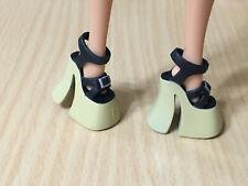Barbie Doll Fashionistas Fashion Fever My Scene Black Platform Sandals Shoes