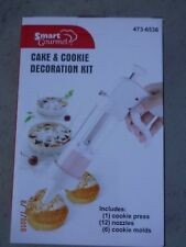SMART GOURMET  Cake & Cookie  DECORATION KIT 12 nozzles, 6 cookie molds  (RM-1)