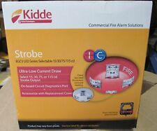 New Lot Of 2 Kidde Commercial Strobe Fire Alarm Egcv Led Series Selectable