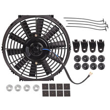 "Universal 10"" inch Electric Radiator Cooling Slim Fan Push Pull Mounting 80W 12V"