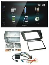 Kenwood aux Bluetooth USB mp3 2din autoradio para Seat Leon 05-09 negro