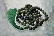 Heart Chakra Green Moss Agate Mala 8mm 108 Bead Necklace Unconditional love Unde