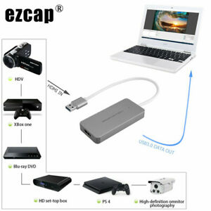 HDMI to USB 3.0 Type C Video Capture Card PS4 Game Phone Record Live Broadcast