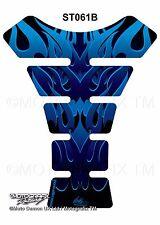 Tribal Flames Blue Motorcycle Tank Pad Tankpad Motografix 3D Gel Protector