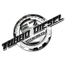 Chrome/Black Turbo Diesel Engine Motor Badge For Trunk Hood Door Tailgate Bed C(Fits: Rabbit)