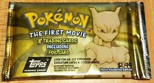 Pokemon Topps The First Movie Animation Edition Booster Foil in Every Pack/Rare!