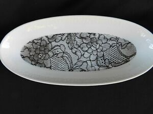 Royal Bavaria Black & White Relish Platter