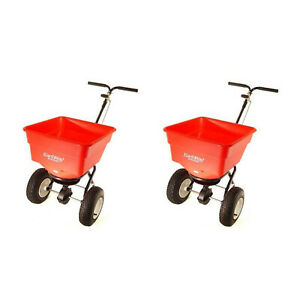 Earthway Commercial Heavy Duty Seed and Fertilizer Broadcast Spreader (2 Pack)