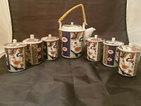 Estate 14pc Taiwanese Chinese Tea Set Teapot w/ Lid 6 cups with lids