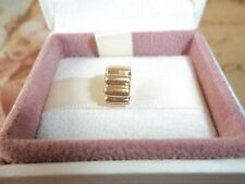 Genuine Authentic Pandora 14ct Gold Ribbed Clip Charm 750118 585 ALE