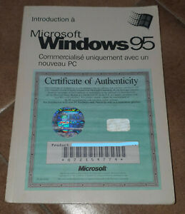Windows 95 licence officielle