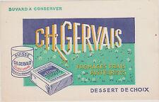 BUVARD ANCIEN PUBLICITAIRE- CH.GERVAIS- FROMAGE FRAIS PETIT SUISSE PASTEURISE