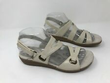 New w/ Defects! Women's Bare Traps 10422 Jevin Open Toe Wedge Sandal - Cream R12
