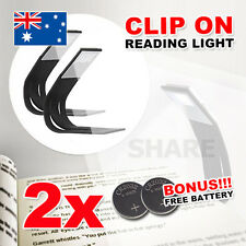 2X Flexible LED Reading Light Kindle Kobo E-Reader Lamp On Book Slim Booklight