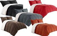 Borrego Comforter/Throw/Blanket Set with Pillow Shams Reversible Soft Sherpa