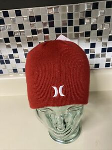 Hurley Icon Staples Beanie - Track Red - New