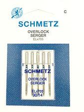 Schmetz Overlock Nadel EL 705 Stärke 90 Flachkolben Nähnadel 5 er Pack