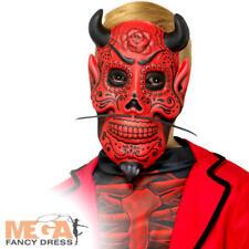 Día de los muertos Diablo Máscara Niños Halloween Traje Accesorio Fancy Dress espeluznante
