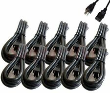 Brand NEW Power Cord Cable for PC & Printer 3-Prongs - (LOT of 10-pcs)
