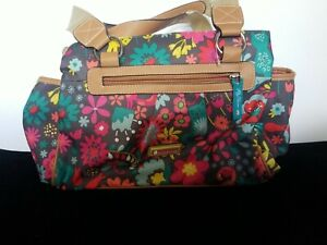 Lily Bloom NWOT Tote Featuring Cats Flowers and Birds Colorful Eco Friendly