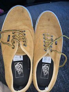 Vans Old Skool Mustard Yellow Suede Canvas Skate Shoe Men's Size Us 7