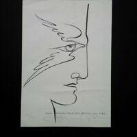 Raphael GIO belle impression signée et numérotée profil homme 1980