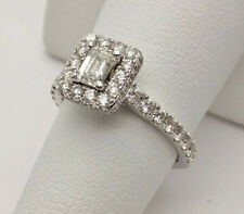 Neil Lane .35ct Emerald Cut Diamond 14k WG Halo .75ctw Accents Engagement Ring