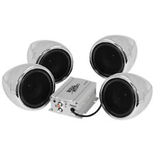 "Boss Audio 3"" 600-Watt Sound System With Bluetooth - Set of 4 Chrome"