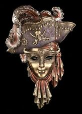Venezianische Maske Pirat - Veronese Gesicht Wand Deko Karneval Venedig