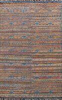 Geometric 6'x8' Moroccan Oriental Area Rug Hand-Knotted Tribal Weave Wool Carpet