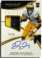 2015 Immaculate College Devin Funchess Auto RC Patch RPA /99 Michigan Wolverines