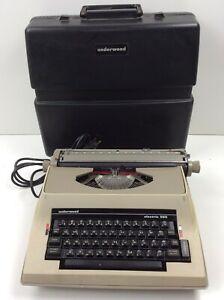 Vintage Underwood 565 Electric Typewriter w/Hard Case