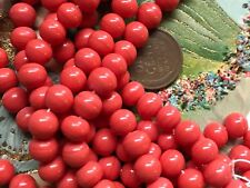 Vintage Cherry Brand, Miriam Haskell Glass Beads 8mm, Japan Coral Red, B32