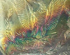 1884 O - Morgan Dollar - MS 61 - PCGS - MONSTER Rainbow Toning Colorful Toned