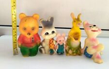 VINTAGE RUBBER TOYS OF THE USSR. LOT 5 TOYS
