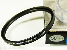 Kenko 58mm UV Digital Filter LENS protezione per 58mm FILTRO thread-UK STOCK