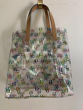 Dooney & Bourke Clear Small Lunch Bag Logo Shopper Bag Tote Handbag