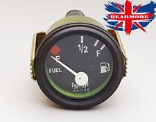 "Motorcycle ATV 2""/52mm 12V Fuel Level Gauge Meter E-1/2-F Pointer Black Face Rim"