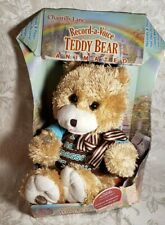 """Chantilly Lane Record A Voice Beige Teddy Bear 11"""" H Tested & Works New In Box"""