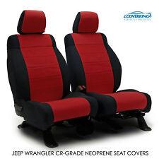2014 Jeep Wrangler JK Genuine Neoprene RED Seat Covers by Coverking