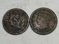 2 Junky Large Cents 1845 & 1852. #10