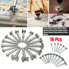 16x Cemented Carbide Forstner Drill Bits Woodworking Boring Flat Cutting Tool dr