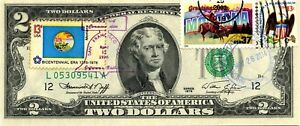 $2 DOLLARS 1976 FIRST DAY STAMP CANCEL STATE FLAG FROM MONTANA VALUE $300