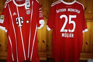 BAYERN MUNICH FC 2017/2018 HOME FOOTBALL SHIRT JERSEY MÜLLER 🇩🇪