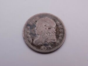 1835 US Silver Bust Head Half Dime Coin Non Graded Raw